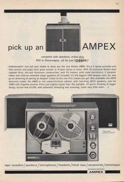 Ampex Stereo Reel To Reel Tape Player (1965)