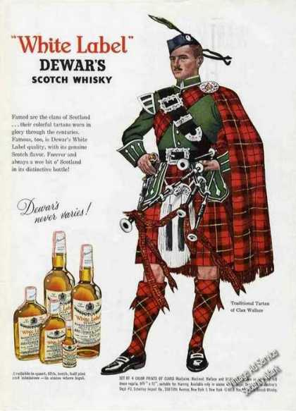 Tartan of Clan Wallace Dewar's Scotch Whiskey (1962)