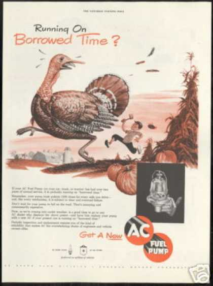 Holiday Turkey Farm AC Fuel Pump Art (1950)