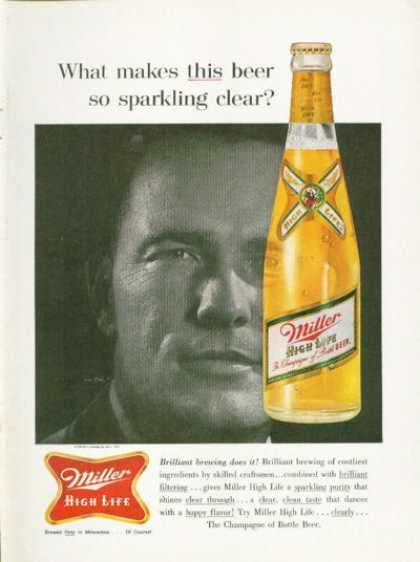 Miller High Life Beer Ad Bottle (1961)