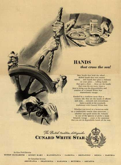 Cunard White Star Line's Cunard White Star – Hands that cross the sea (1949)