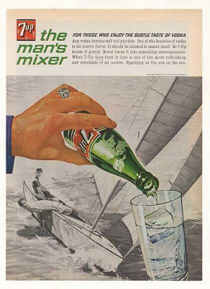 7-Up The Man's Mixer Vodka Sailboat Boating (1963)