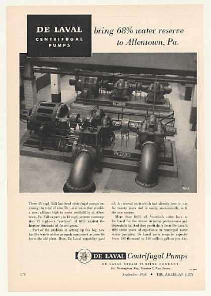 Allentown PA De Laval Centrifugal Water Pumps (1954)
