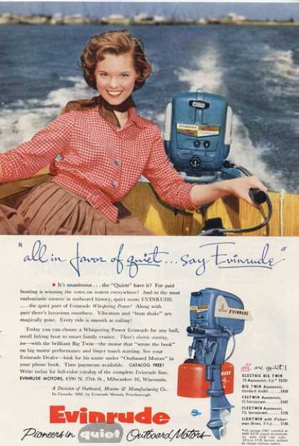 Evinrude Boat Motor Outboard T (1955)