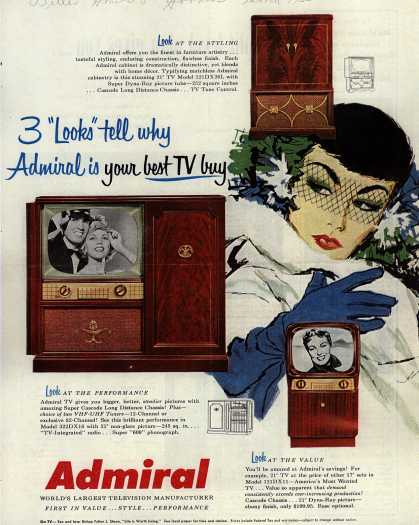 "Admiral Corporation's Television – 3 ""Looks"" Tell Why Admiral is Your Best TV Buy (1953)"