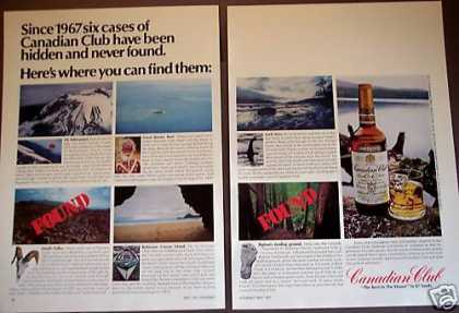Hidden Cases of Canadian Club Whiskey 2pg Photo (1977)