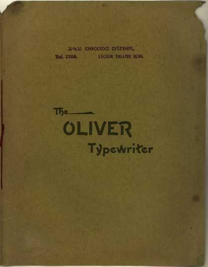 Oliver Typewriter Co.'s Oliver Typewriter – The Oliver Typewriter