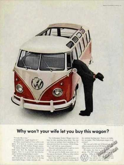 Vw Volkswagen Station Wagon Why Won't Your Wife (1962)