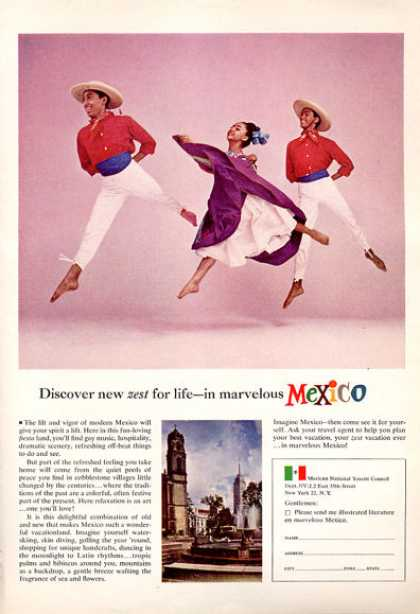 Mexico Travel Traditional Dancers Ballet (1964)