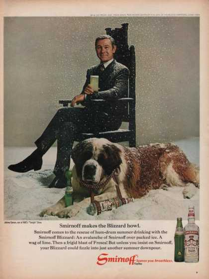 Johnny Carson Smirnoff Vodka (1969)