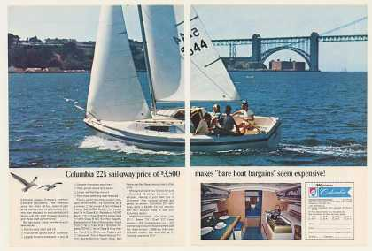 Columbia Yacht 22 Foot Sailboat Boat (1969)
