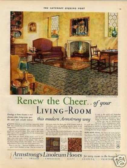 "Armstrong's Linouleum Color Ad ""Renew the Cheer... (1928)"