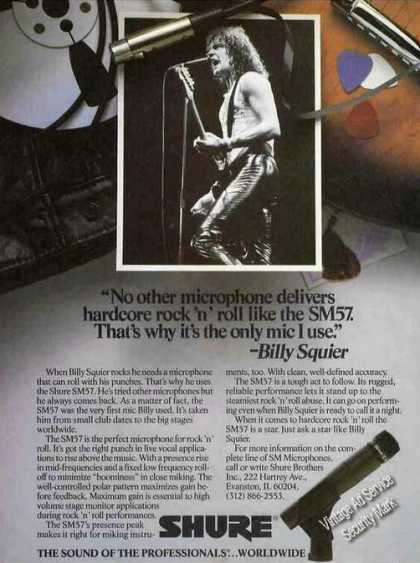 Billy Squier Photo Shure Sm57 Microphone (1985)