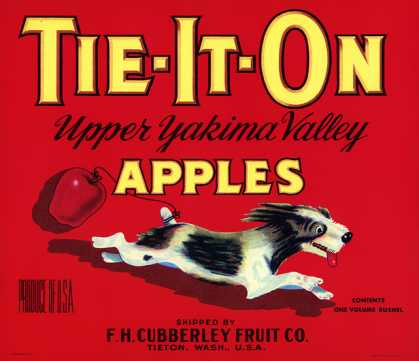 Tie-It-On Apples, c. 			s (1940)