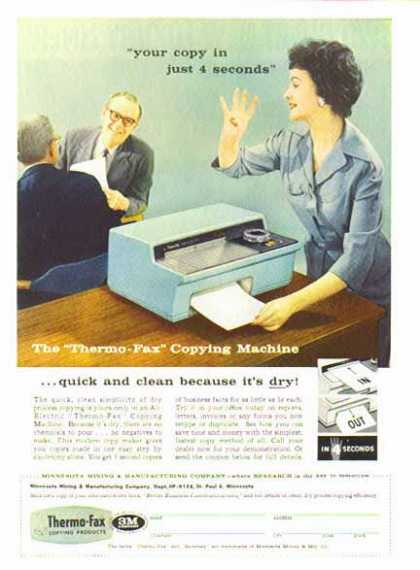 Thermo-Fax Copying Machine РCopy Room D̩cor РSold (1958)