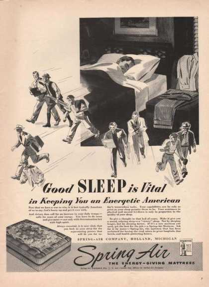 Good Sleep Is Vital Spring Air Mattress (1942)