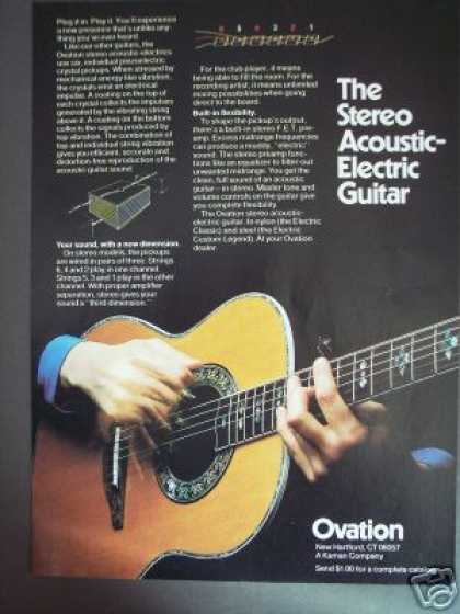 Ovation Stereo Acoustic Electric Guitar (1978)