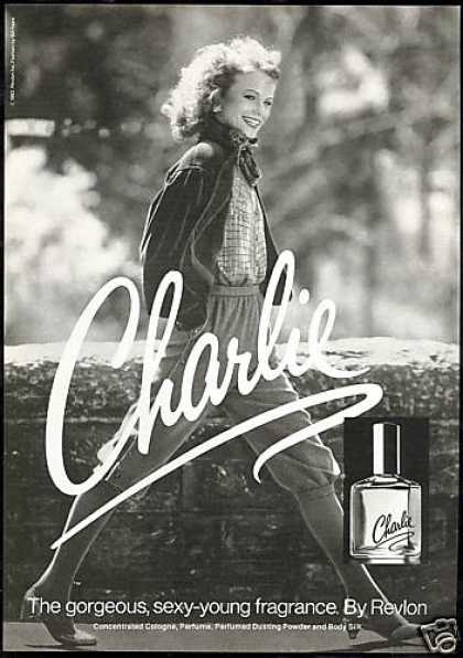 Pretty Shelley Hack Revlon Charlie Perfume (1982)