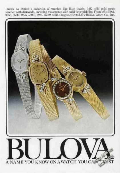Bulova La Petite Wristwatches Nice Color (1977)