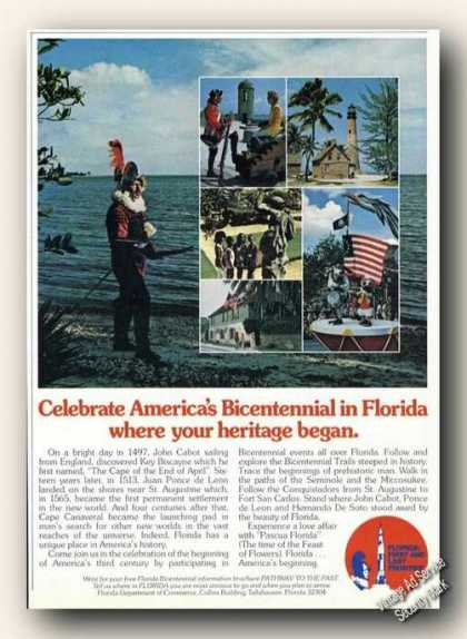 Celebrate Americas Bicentennial In Florida (1976)