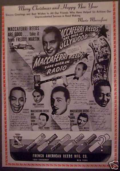 Maccaferri Reeds for Musical Instruments Music (1943)