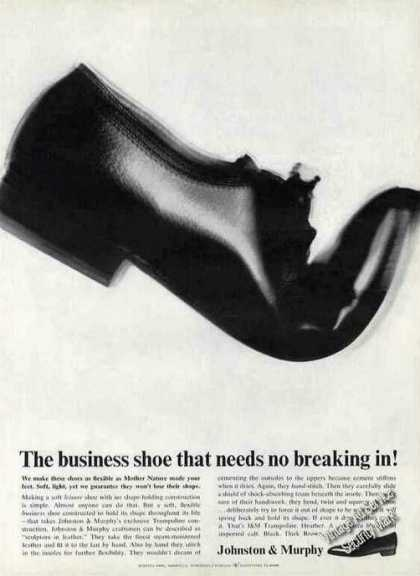 "Johnston & Murphy ""Needs No Breaking In!"" Shoe (1963)"