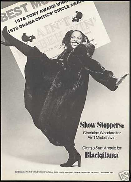 Charlaine Woodard Photo Blackglama Mink (1978)