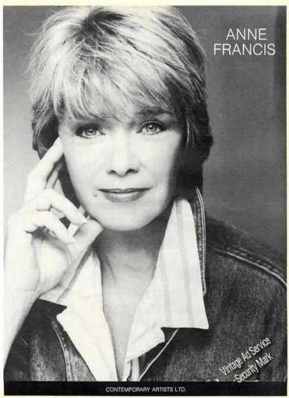 Anne Francis Photo Large Trade (1987)