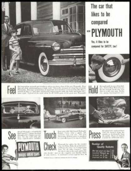 Plymouth Vintage 5 Photo Quality Features Car (1949)