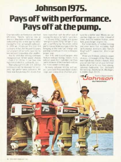 Johnson Outboard Boat Motor Ski Fish (1975)