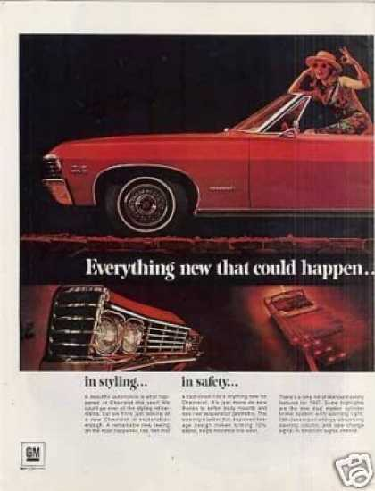 Chevrolet Impala Convertible Ad Centerfold (1967)