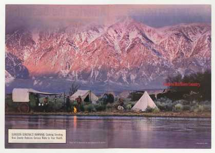 Marlboro Country Men Camping Water Mountains (1993)