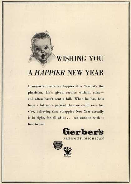 Gerber's Gerber – Wishing You a Happier New Year (1934)