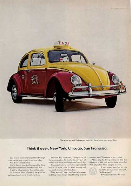 Volkswagen Vw Fake Red Yellow Taxi (1964)