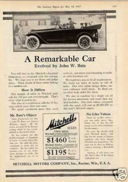 "Mitchell Car Ad ""A Remarkable Car... (1917)"