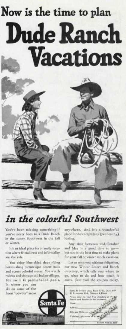 Sante Fe Lines Dude Ranch Vacations (1949)