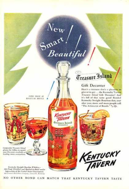 Kentucky Tavern Decanter Whiskey (1951)