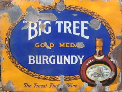 Big Tree Burgundy Sign