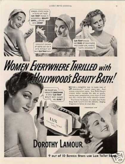 Lux Soap Ad Dorothy Lamour (1941)