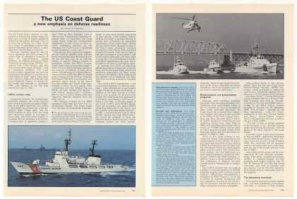 US Coast Guard Defense Readiness 4-P Photo Article (1987)