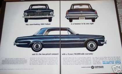 Original Plymouth Valiant for 1964 2 Page (1963)