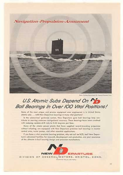 USS Skate Atomic Sub New Departure Ball Bearing (1959)