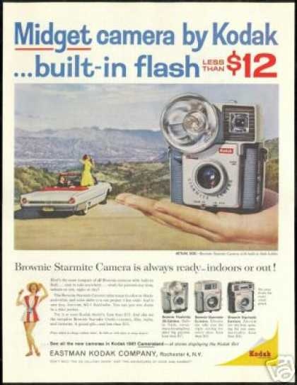 Kodak Brownie Starmite Camera Ford Convertible (1961)