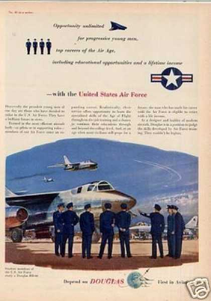 Douglas Aircraft Ad United States Air Force (1955)