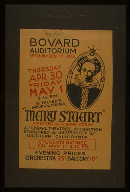 """Mary Stuart"" directed by Jerome Coray. (1936)"