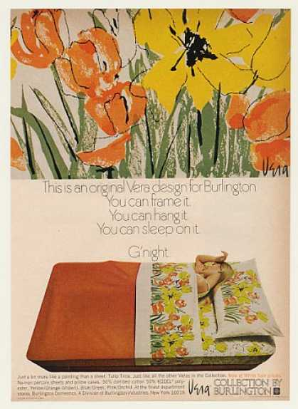 Burlington Tulip Time Vera Design Sheets (1971)
