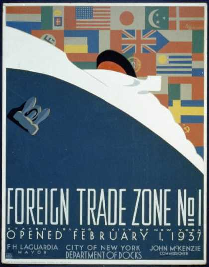 Foreign trade zone no. 1 – Staten Island, City of New York, opened February 1, 1937 / M. Weitzman. (1937)