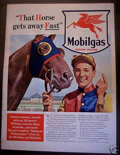 Mobilgas Pegasus the Horse Gasoline (1940)
