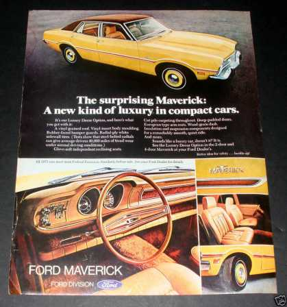 Ford Maverick, 1973 Luxury! Exc (1972)