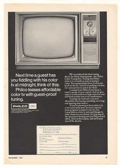 Philco Motel Hotel Color TV Television (1967)